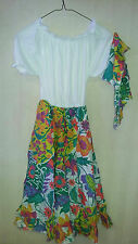RG Costumes Jamaican Girls Costume Floral Dress and Headwrap Size Large 12-14
