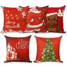 Square Noel Pillowcase Merry Christmas Home Decoration Ornaments Navidad Gifts