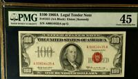 SERIES 1966A $100 PMG45 CHOICE EF, LEGAL TENDER US NOTE, ELSTON/KENNEDY,  3440