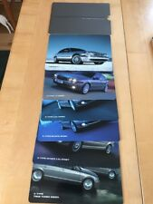 Jaguar S Type X Type Range  Colour Information Cards x 6 in Slip Case 2005