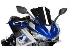 Puig Racing Windscreen for 2015 Yamaha YZF-R3 Black / 7649N