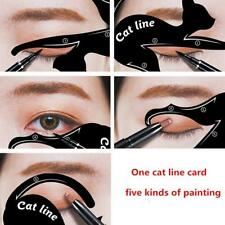 Black Professional Quick Eyeliner Stickies Stencils Cat Eye Line Makeup Tool FW