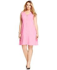 INC International Concepts Plus Size Zip-Front Sleeveless Pink Pop 3X