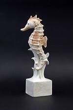 Figurine Porcellana Cavalluccio marino Bisquit rosso Wagner&Apel 6x27cm 9942576