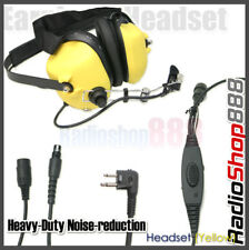 RACING HEADSET HEADPHONE FOR MOTOROLA 2 WAY RADIOS YELLOW COLOR