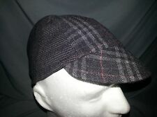 CYCLING CAP COLOR GRAY WITH STRAPS LINES  ONE SIZE  brand new wool cap