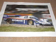 Derek Bell Porsche Hand Signed Canvas 580mm x 401mm Very Rare Large.