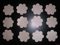 12 Pair Nipple Cover Flower Petal SATIN Pasties BREAST One Sizes Beiges Fullness