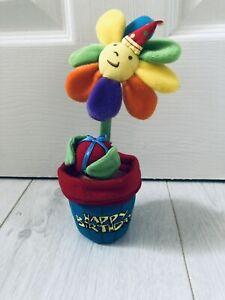 Plush Happy Birthday Flower
