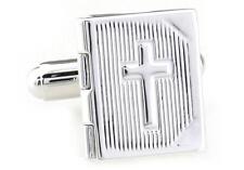 Bible Locket Cufflinks Picture Minister Wedding Fancy Gift Box Free Ship USA