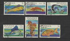 poisson 1968 PANAMA 6 timbres oblitérés / T1727
