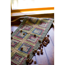 """Tea Cabin Quilted 72"""" Table Runner Primitive Green Rustic Lodge VHC Brands"""