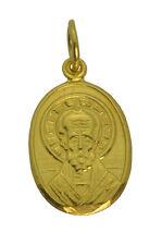 SALE Saint of children St. Nicholas 24K Gold Plated Silver charm Christmas  Jewe