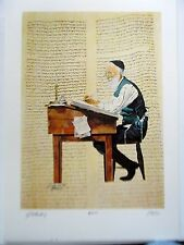 Israeli Art/Judaica The Scribe Lithograph by Silberstein Signed  19x14