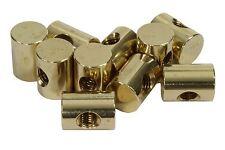 "Traditional Truss Rod Anchor Barrel Nut Brass 10-32 thread 1/2"" length - 10pack"
