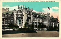 Vintage Postcard - Union Theological Seminary On Broadway New York City NY #3226