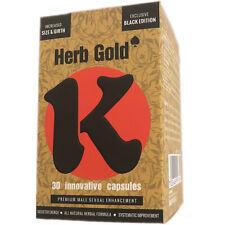 NEW Black K Herb Gold Male Enhancement Enlargement 30 Pills No Side Effects
