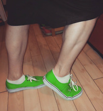 Used Barely Worn Size 10.5 VANS Classic Low Skate Shoes Green/White Canvas 2013