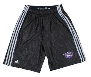 Adidas NBA Men's Phoenix Suns Basketball Practice Shorts, Black/White