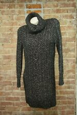 Banana Republic Heritage Collection Womens Sweater Dress XS Black White Chunky