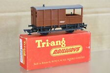 TRIANG R124 BR marron FREIN van wagon w8297 ouvert accouplements 1958 Version