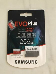 EVO Plus With SD Adapter - 256 GB - NEW
