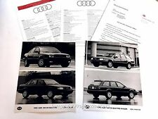1993 Audi 100 and Quattro Original Car Product Media News Guide Brochure like