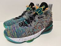 🔥Nike LeBron James XVII 17 LJFF 'I Promise' Basketball Shoes CW2761-300 Sz 6.5Y