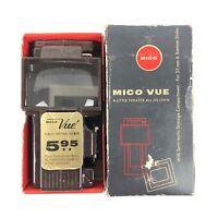 Vintage Mico Vue 35mm & Bantam Slide & Strip Viewer Brown Plastic Semi Matic