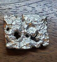Custom Sand Cast Sterling Silver Belt Buckle