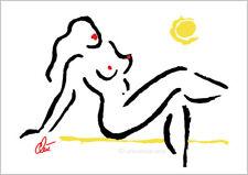 JACQUELINE DITT - Hot Girl  A2 handsigniert ltd.Original Druck Grafik gross Akt