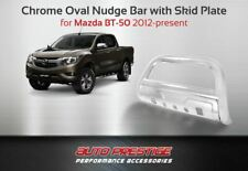 Mazda BT50 2012+, Chrome Oval Nudge Bar with Skid Plate