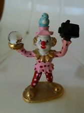 PHOTOGRAPHER Spoontinques KM1401 Pewter Clown with Swarovski Crystal w/ camera