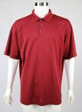 Nike Golf Dri-Fit Mens Dark Red Short Sleeve Polo Golf Shirt Medium