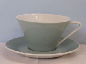 Lilienporzellan Daisy Grau Teetasse mit Untertasse Kaffeetasse Lilien Porzellan