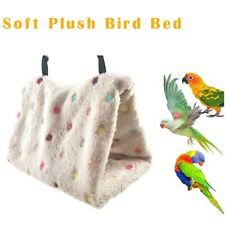 Winter Warm Bird Bed House Pet Parrot Cage Tent Bed Hanging Hole Parrot  Hammock