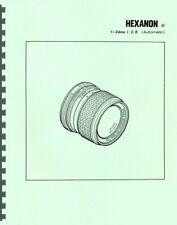 Konica Hexanon AR 24mm F2.8 Lens Service & Repair Manual Reprint