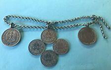 2v5:Silber Miederanhänger Münzen Tracht Erbskette Trachtenschmuck Bayern ab 1875