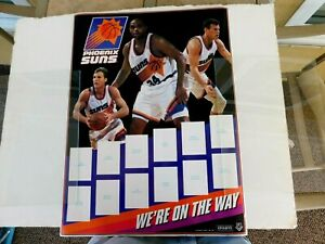 Phoenix Suns Basketball poster, Charles Barkley & Dan Majerle,space for 12 cards