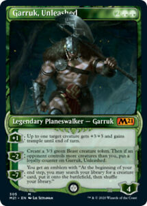 Garruk, Unleashed - Showcase x4 Magic the Gathering 4x Magic 2021 mtg card lot