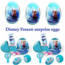 New 3 Disney Frozen GIRLS Surprise Eggs With  Toy, Candy And Stickers