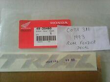 MONTESA COTA 311 ( 1993 ) REAR FENDER MUDGUARD DECAL STICKER GENUINE 49 20460