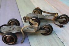 patins à roulettes anciens vintage roller skateboard skate 3 roues 1930