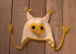 Owl baby hat Newborn crochet hat Baby shower gift