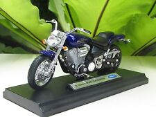 Welly 1/18 Diecast Motorcycle Yamaha Road Star Warrior 2002 (Blue)