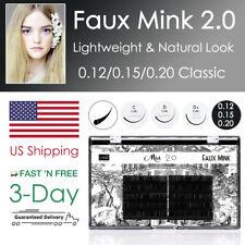 [US Shipping] Faux Mink Eyelash Extension Individual Lash 0.12 0.15 0.20