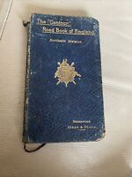 Antique Road Map Book England Victorian 1897 Contour Route Condition 1890s