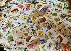 KILOWARE -Singapore stamps Assortment  about 500 pieces on paper , Post FREE