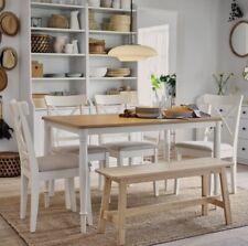 IKEA INGOLF Neu Stuhl aus Massivholz Holzstuhl WEIß Stuhl Küchenstuhl Esszimmer