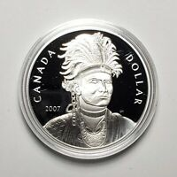 Canada 2007 Thayendanegea .925 Sterling Silver $1.00 One Dollar Coin Proof